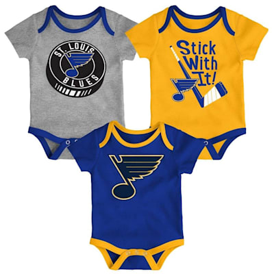 (Adidas St. Louis Blues Cuddle and Play 3-Pack Set - Newborn)
