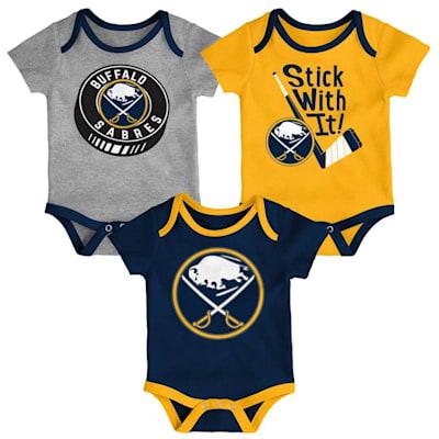 (Adidas Buffalo Sabres Cuddle and Play 3-Pack Set - Newborn)