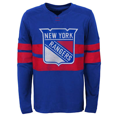 (Outerstuff New York Rangers V Long Sleeve Tee - Youth)