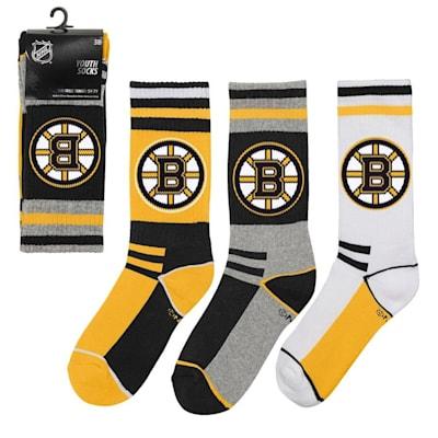 (Adidas NHL 3-Pack Socks Boston Bruins - Youth)