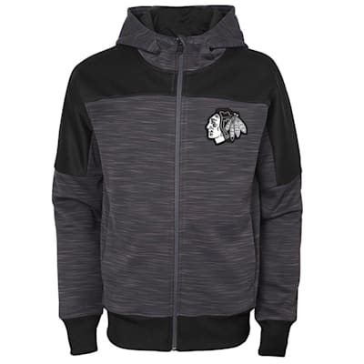 (Adidas Chicago Blackhawks Sleek Essentials Full Zip - Youth)