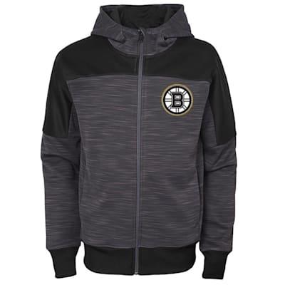 (Outerstuff Boston Bruins Sleek Essentials Full Zip - Youth)