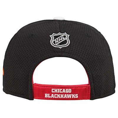 (Adidas Chicago Blackhawks Blueline Structured Adjustable Hat - Youth)