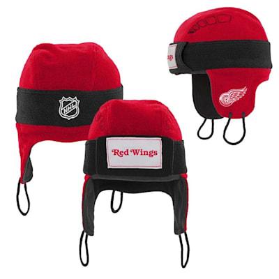 (Adidas Detroit Red Wings Hockey Helmet Hat - Youth)
