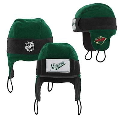 (Adidas Minnesota Wild Hockey Helmet Hat - Youth)