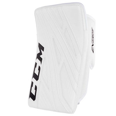 White/White (CCM Extreme Flex 4 Pro Goalie Blocker - Senior)