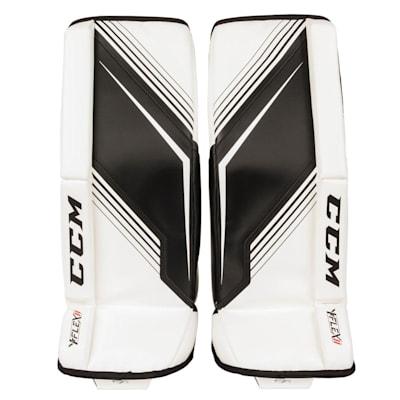 White/Black (CCM YT-Flex 2 Goalie Leg Pads - Youth)