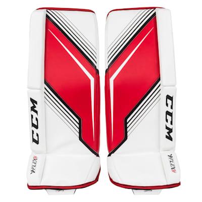 White/Red (CCM YT-Flex 2 Goalie Leg Pads - Youth)