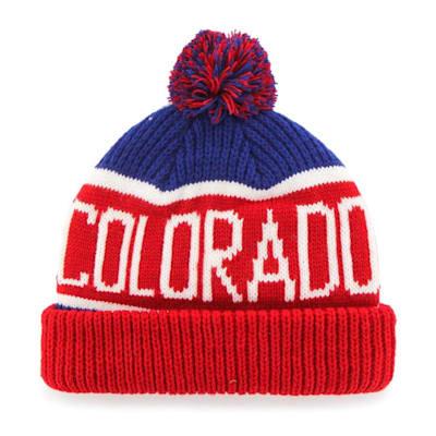 (47 Brand Calgary Pom Knit Hat Colorado Rockies - Adult)