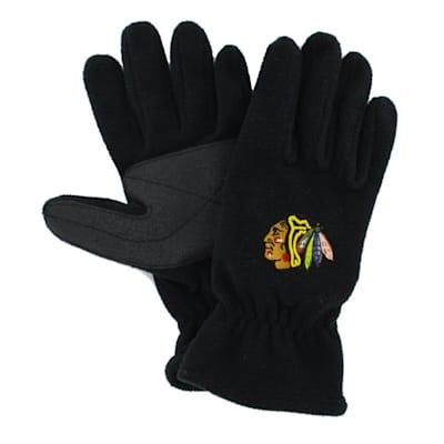 (47 Brand Chicago Blackhawks Fleece Gloves - Adult)