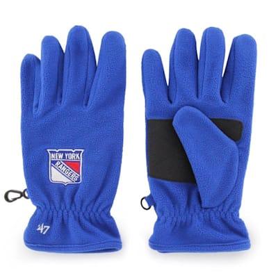 (47 Brand NY Rangers Fleece Gloves - Adult)