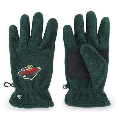 (47 Brand Minnesota Wild Fleece Gloves - Adult)
