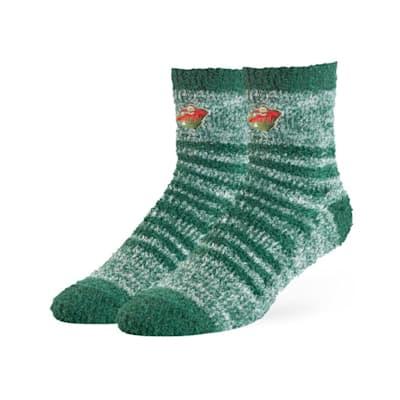 (47 Brand Snug Fuzzy Sock - Minnesota Wild - Adult)