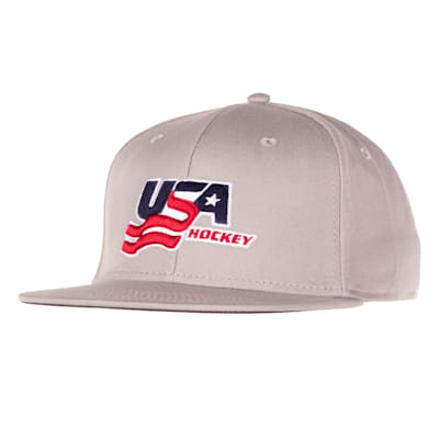 Grey (USA Hockey Flat Brim Snapback Cap - Adult)