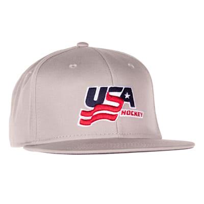 (USA Hockey Flat Brim Snapback Cap - Adult)