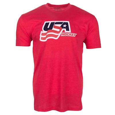 Red Front (USA Hockey Short Sleeve Tee Shirt - Youth)
