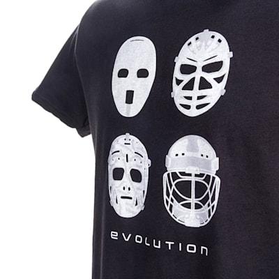 Graphic (PlusMinus Goalie Mask Evolution Tee Shirt - Youth)