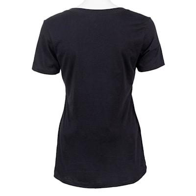 Black Back (PlusMinus Proud Hockey Mom Tee Shirt - Womens)