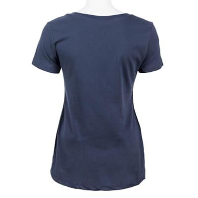 Indigo Back (PlusMinus Proud Hockey Mom Tee Shirt - Womens)