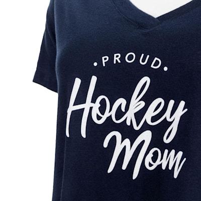 Navy Graphic (PlusMinus Proud Hockey Mom Tee Shirt - Womens)