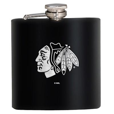 (Chicago Blackhawks Stainless Steel Flask)