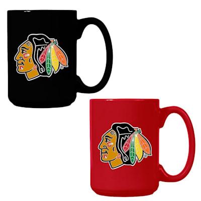 (Chicago Blackhawks 15 oz Ceramic Mug Gift Set)
