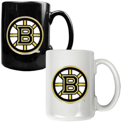 (Boston Bruins 15 oz Ceramic Mug Gift Set)