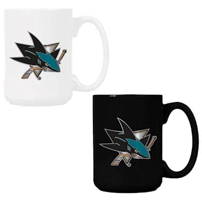 (San Jose Sharks 15 oz Ceramic Mug Gift Set)