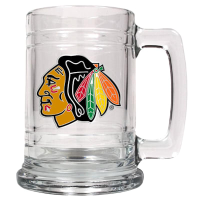 (Chicago Blackhawks 15 OZ Classic Glass Mug)