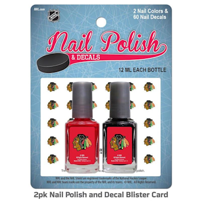 (NHL Nail Polish 2 Pack With Decals - Chicago Blackhawks)