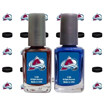 (NHL Nail Polish 2 Pack With Decals - Colorado Avalanche)