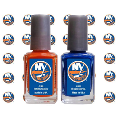 (NHL Nail Polish 2 Pack With Decals - New York Islanders)