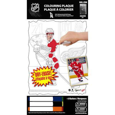 (Frameworth Dylan Larkin NHL Coloring Plaque)