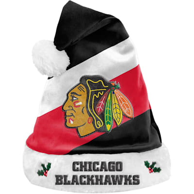 (Chicago Blackhawks Holiday Santa Hat)