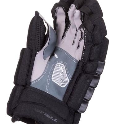 (TRUE A Series Black Hockey Gloves - Junior)