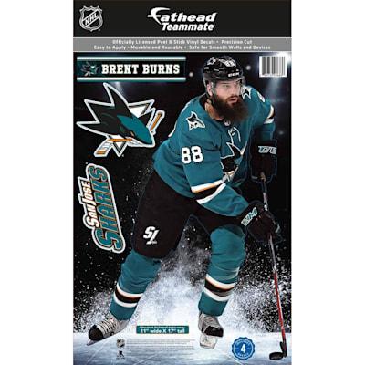 (Fathead NHL Teammate San Jose Sharks Brent Burns Wall Decal)