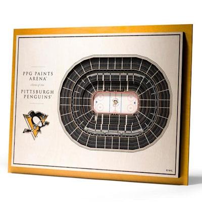 (YouTheFan Pittsburgh Penguins 5Layer Stadium 3D Wall Art)