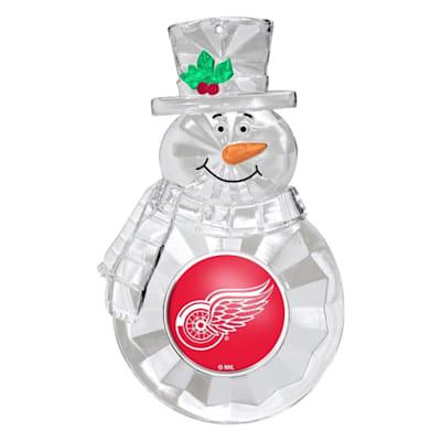 (Snowman Ornament Detroit Red Wings)