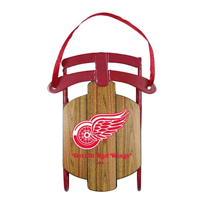 (Metal Sled Ornament Detroit Red Wings)