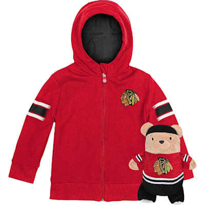 (Outerstuff Chicago Blackhawks Hoodie And Plush Animal - Infant)