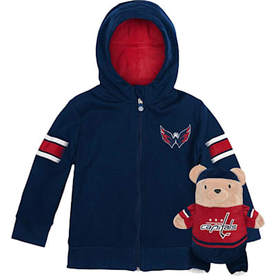 (Adidas Washington Capitals Hoodie And Plush Animal - Infant)
