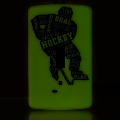 (Painted Pastimes Player Light Switch Cover - Glow in the Dark)
