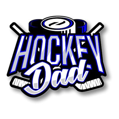 (Hockey Dad Sticker)