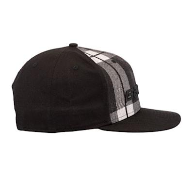 (Bauer New Era 9Fifty Plaid Adjustable Cap - Black/Grey - Adult)
