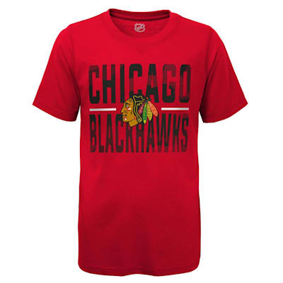 (Adidas Hustle Ultra Tee- Chicago Blackhawks - Youth)