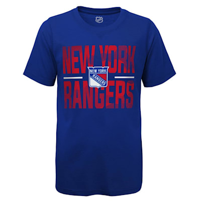 (Outerstuff Hustle Ultra Tee - NY Rangers - Youth)
