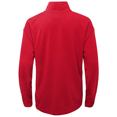 (Outerstuff Attacking Zone 1/4 Zip Performance Top - Chicago Blackhawks - Youth)