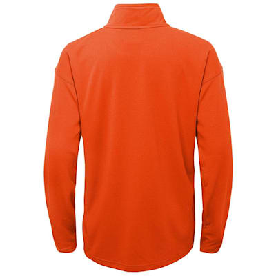 (Outerstuff Attacking Zone 1/4 Zip Performance Top - Philidelpia Flyers - Youth)