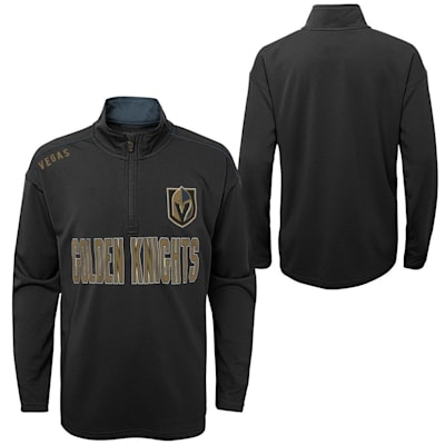 (Outerstuff Attacking Zone 1/4 Zip Performance Top - Vegas Golden Knights - Youth)