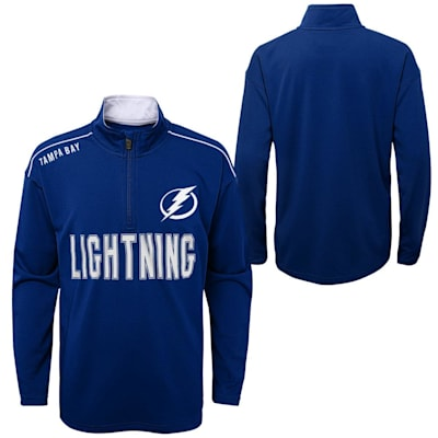 (Outerstuff Attacking Zone 1/4 Zip Performance Top - Tampa Bay Lightning - Youth)
